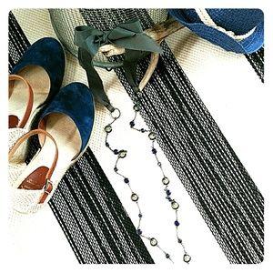 J Crew Ribbon Tie Necklace